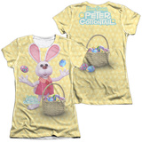 Juniors: Here Comes Peter Cottontail - Basket Of Eggs (Front - Back Print) (Front/Back Print) T-shirts