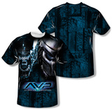 Alien vs Predator - Head To Head (Front/Back Print) T-shirts