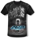 Alien vs Predator - Skulls (black back) T-shirts