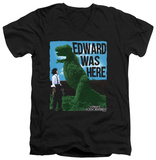Edward Scissorhands - Edward Was Here V-neck T-shirts