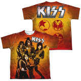 Youth: KISS - Fire Pose (Front - Back Print) (Front/Back Print) T-shirts