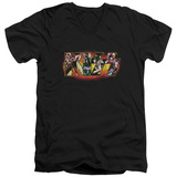 KISS - Stage Logo V-neck T-shirts