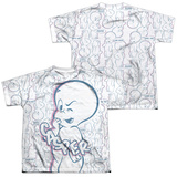 Youth: Casper - Friendly Ghost (Front/Back Print) T-shirts