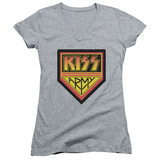 Juniors: KISS - Army Logo V-Neck T-shirts