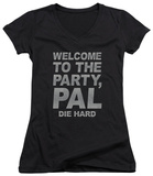 Juniors: Die Hard - Party Pal V-Neck T-Shirt