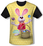 Here Comes Peter Cottontail - Basket Of Eggs (black back) T-Shirt