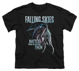 Youth: Falling Skies - Battle Or Become T-shirts