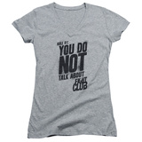 Juniors: Fight Club - Rule 1 V-Neck T-Shirt
