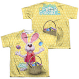 Youth: Here Comes Peter Cottontail - Basket Of Eggs (Front - Back Print) (Front/Back Print) T-Shirt