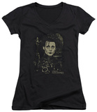 Juniors: Edward Scissorhands - Edward V-Neck T-shirts