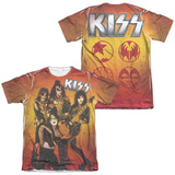 KISS - Fire Pose (Front - Back Print) (Front/Back Print) T-shirts