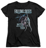 Womens: Falling Skies - Battle Or Become T-Shirt