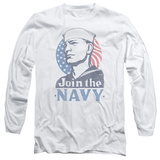 Longsleeve: Navy - Join Now T-Shirt