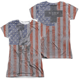 Juniors: M.A.S.H - Flagged (Front/Back Print) T-Shirt