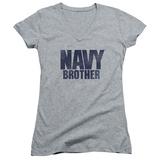Juniors: Navy - Brother V-Neck T-shirts