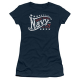 Juniors: Navy - Stars T-shirts