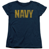 Womans: Navy - Logo Shirts