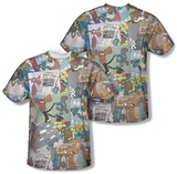 Rocky & Bullwinkle - Collage (Front/Back) T-Shirt