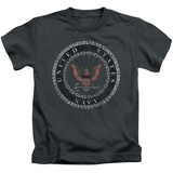 Juvenile: Navy - Rough Emblem T-Shirt