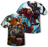 Masters Of The Universe - Heroes And Villains (Front/Back) T-shirts