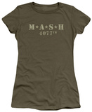 Juniors: M.A.S.H - Distressed Logo T-shirts