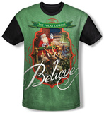 Polar Express - Santa (black back) T-shirts