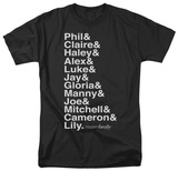 Modern Family - Names T-shirts