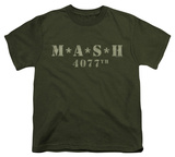 Youth: M.A.S.H - Distressed Logo T-shirts
