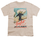Youth: Navy - Fight Let's Go Shirt