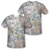 Rocky & Bullwinkle - Collage (Front/Back) Shirt