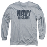 Longsleeve: Navy - Husband T-shirts