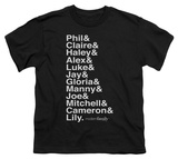Youth: Modern Family - Names T-Shirt