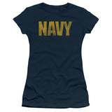 Juniors: Navy - Logo T-shirts