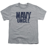 Youth: Navy - Uncle T-shirts