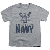 Youth: Navy - Eagle Logo T-shirts