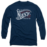 Longsleeve: Navy - Stars Long Sleeves