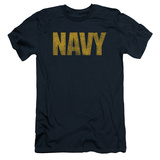 Navy - Logo (slim fit) T-shirts