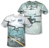 Navy - Osprey (Front/Back) T-Shirt