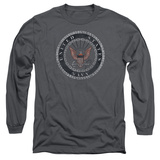 Longsleeve: Navy - Rough Emblem Shirt