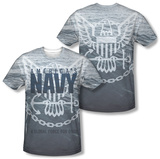 Navy - Force For Good (Front - Back Print) (Front/Back Print) T-shirts