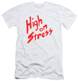 Revenge Of The Nerds - High On Stress (slim fit) T-shirts