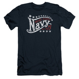 Navy - Stars (slim fit) T-shirts