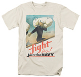 Navy - Fight Let's Go T-shirts