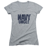 Juniors: Navy - Uncle V-Neck Shirts
