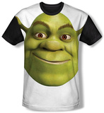 Shrek - Head (black back) Sublimated