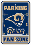NFL St. Louis Rams Plastic Parking Sign - Fan Zone Wall Sign