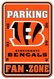NFL Cincinnati Bengals Plastic Parking Sign - Fan Zone Wall Sign