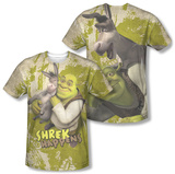 Shrek - Best Friends (Front - Back Print) (Front/Back Print) T-shirts