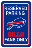NFL Buffalo Bills Plastic Parking Sign - Reserved Parking Wall Sign