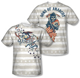 Sons Of Anarchy - Crow And Stars (Front/Back) T-Shirt